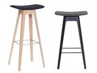 Scandinavian stool bar model HC1, fabric or leather, 67 cm or 80 cm.
