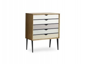 Small chest of drawers 5 colored drawers Model S2