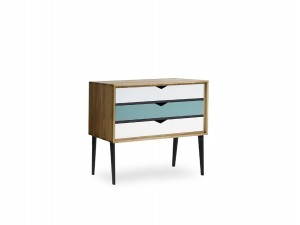 Small chest of drawers 3 colored drawers Model S2
