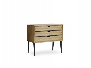 Small chest of drawers, 3 drawers Model S2 in oak