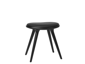 Low Stool. 47 cm. Black stained beech