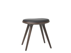 Low Stool. 47 cm. Dark stained beech