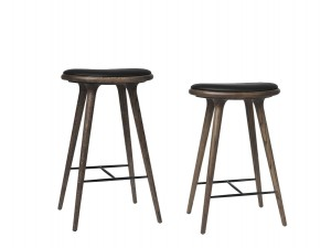 High Stool. 69 cm or 74 cm. Dark stained oak.