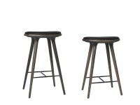 High Stool. 69 cm or 74 cm. Sirka grey stained  oak.