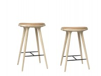 High Stool. 69 cm or 74 cm. Natural soaped oak.