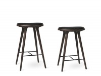 High Stool. 69 cm or 74 cm. Dark stained beech