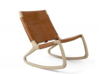 Rocking chair model Rocker, white lacquered oak