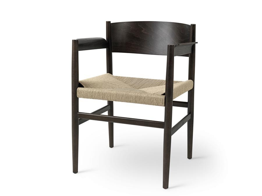 Nestor Vis Fauteuil.Nestor Dining Chair Sirka Grey Beech And Natural Paper Cord