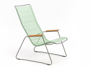 CLICK outdoor lounge chair with armrests