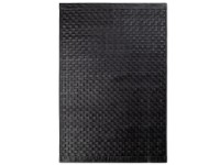 Tuscany Leather Rugs Black 2 dimensions