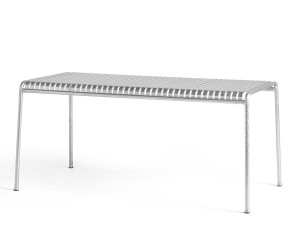 Palissade outdoor table hot galvanized 6/7 seats