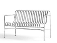 Palissade outdoor dining bench hot galvanized
