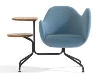 Wilmer Conference chair O56T with tablets and high armrest.