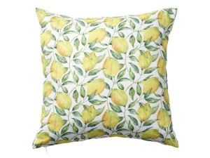 Lemon Tree cushion cover, 45 x 45 cm. 100% cotton