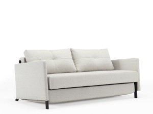 Kub Wood 160  sofa bed, with arms