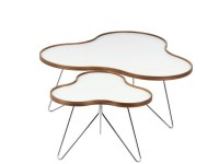 Flower coffee table White. 3 sizes