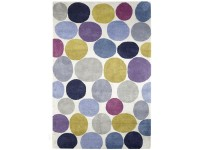 Custom hand knotted Pebbles rug