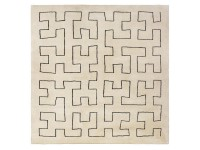 Custom hand tufted Maze-tufted square rug.