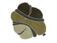 Hand tufted Obi Greens rug. Medium